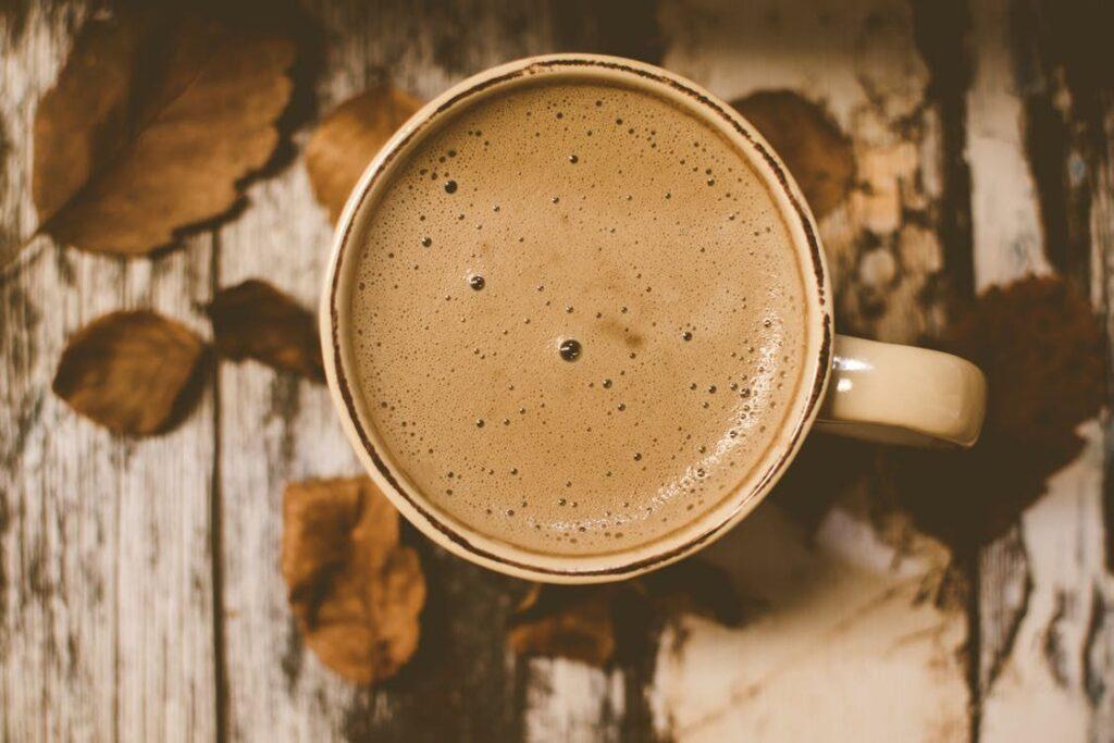 Caffeine Drink Called White Coffee